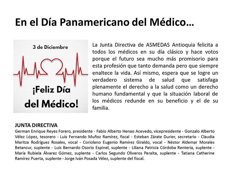 ASMEDAS Antioquia felicita a los Médicos en su Día Clásico