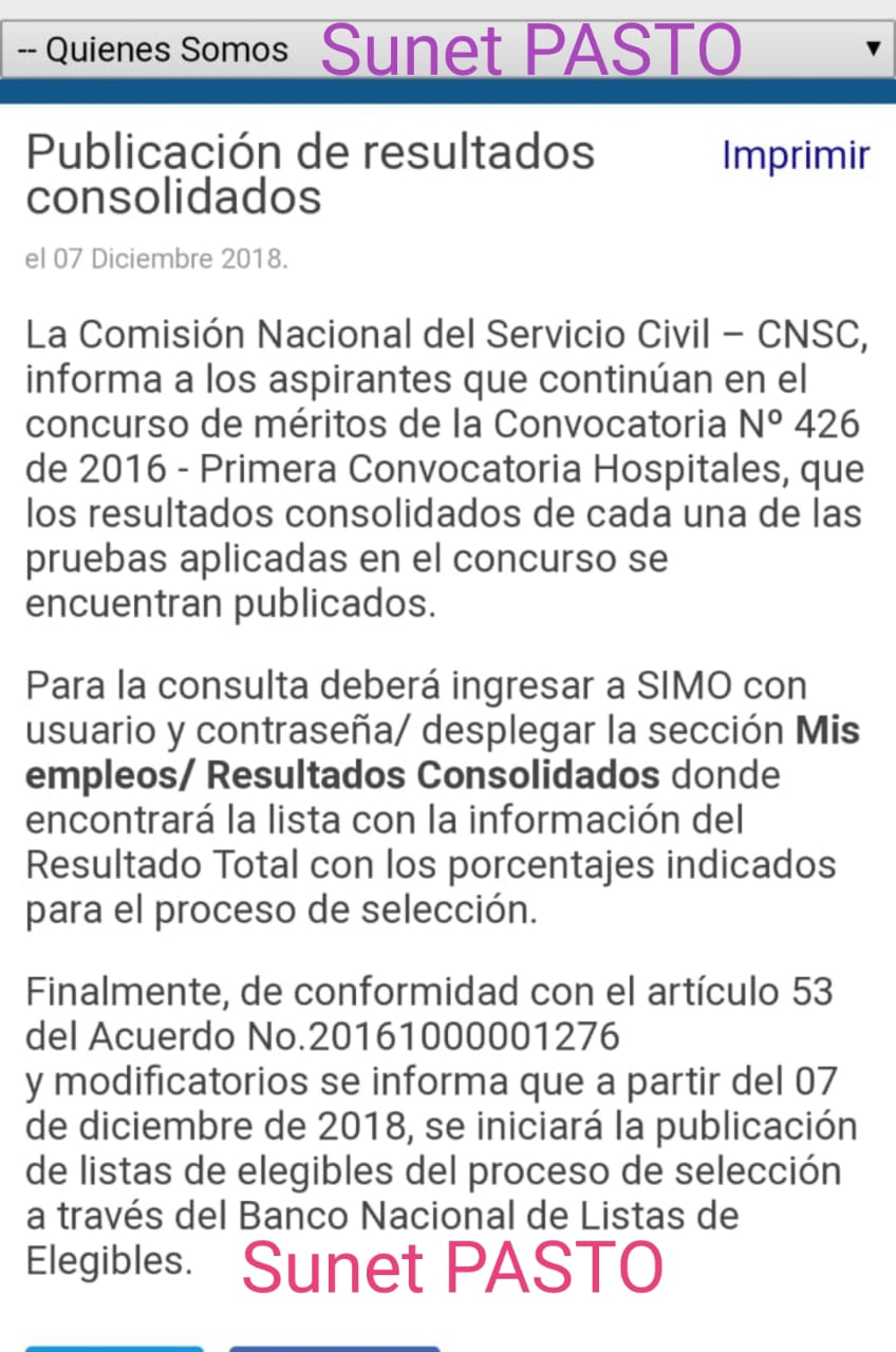 CNSC publica resultados consolidados del Concurso de Méritos de la Convocatoria 426 de 2016