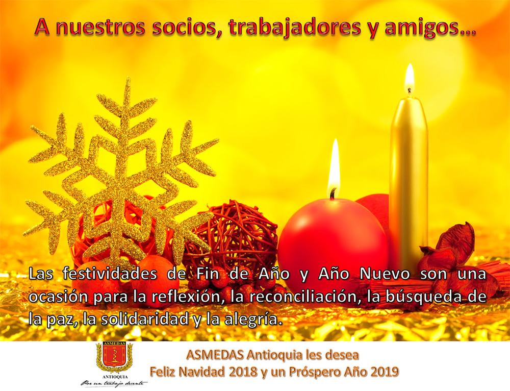 Mensaje de Navidad a nuestros socios, trabajadores y amigos…