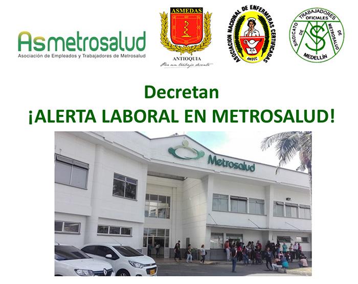 Declaración de Alerta Laboral en Metrosalud y llamado a la comunidad