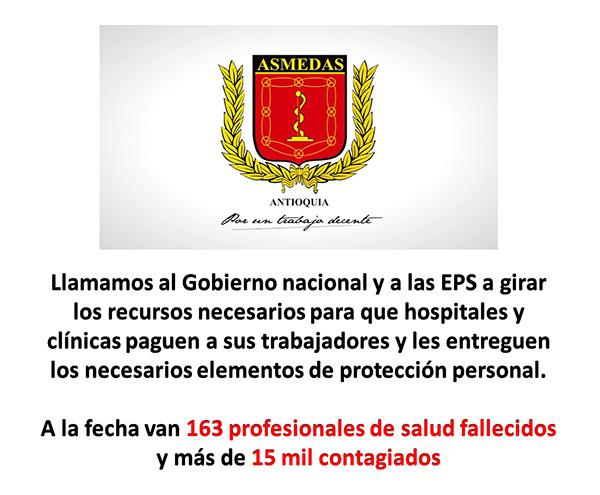 Saludamos declaratoria de Alerta Roja Hospitalaria en Antioquia, pero que Gobierno y EPS paguen deudas a hospitales y trabajadores