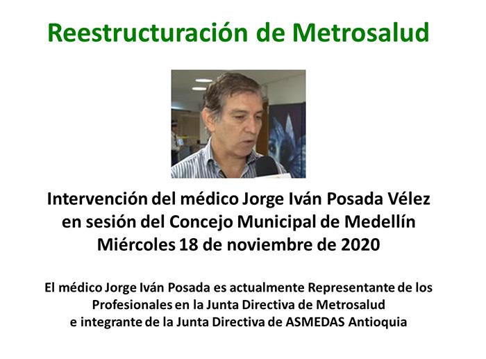 Debate en el Concejo de Medellín sobre reestructuración de Metrosalud 2020