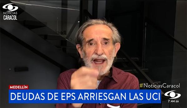 Atención en camas UCI en Medellín, en riesgo por deudas de las EPS
